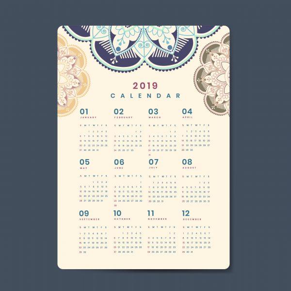 Calendario de bolsillo estandar